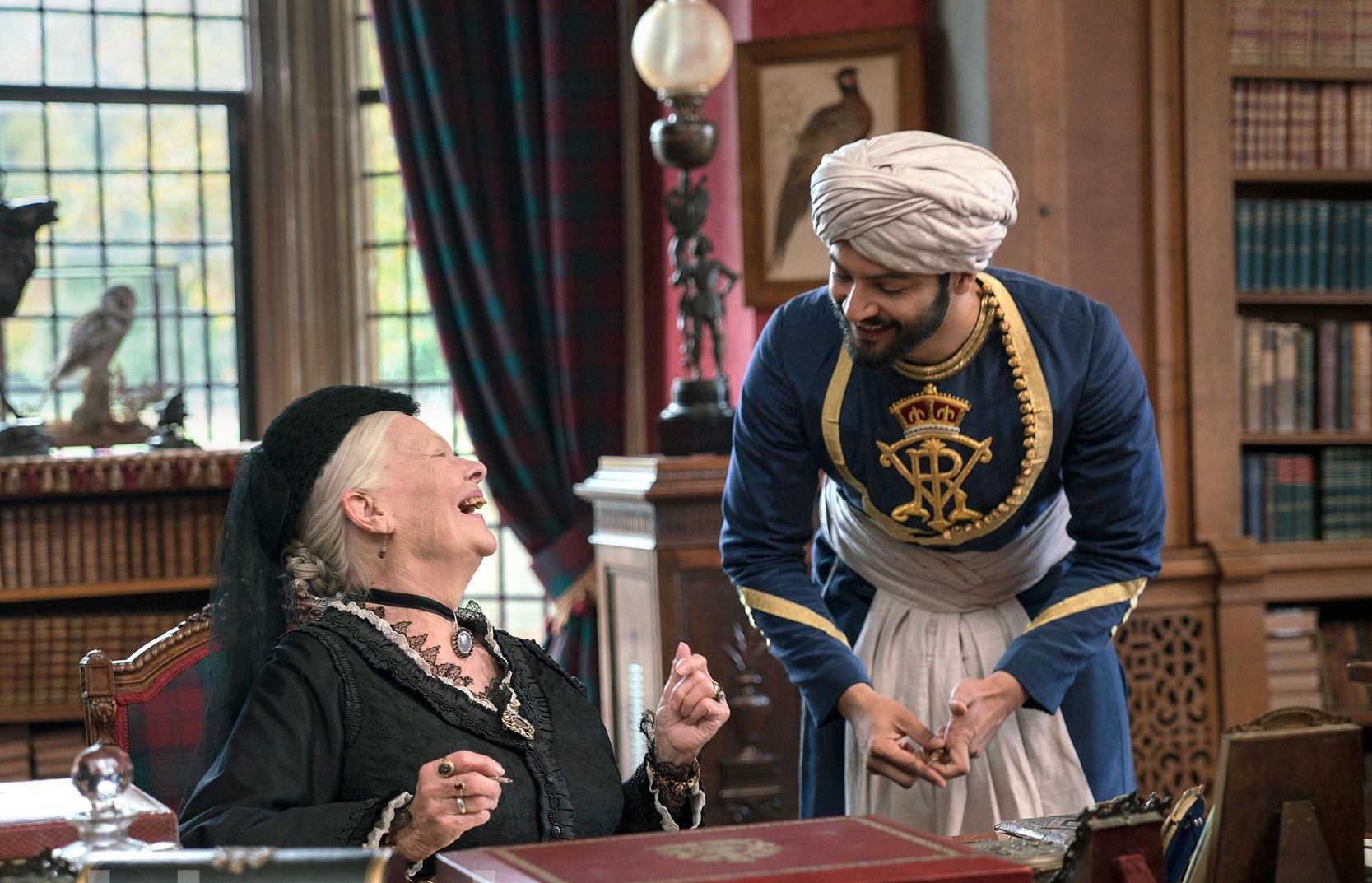 Victoria and Abdul Judi Dench (left) as Queen Victoria and Ali Fazal (right) as Abdul Karim